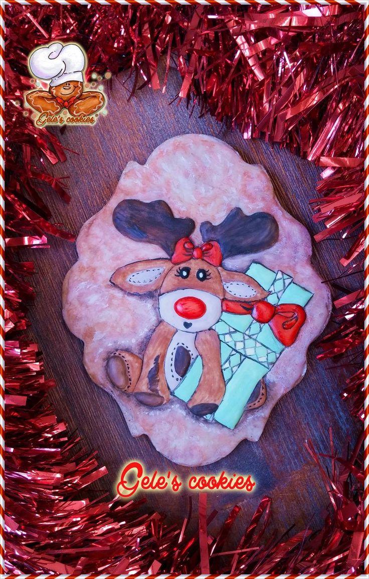 Galleta Rodolfo el reno Royal icing  Rudolph the reindeer