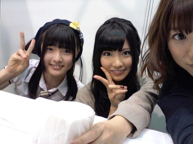 Omori, Mocchi and half of Akicha #AKB48