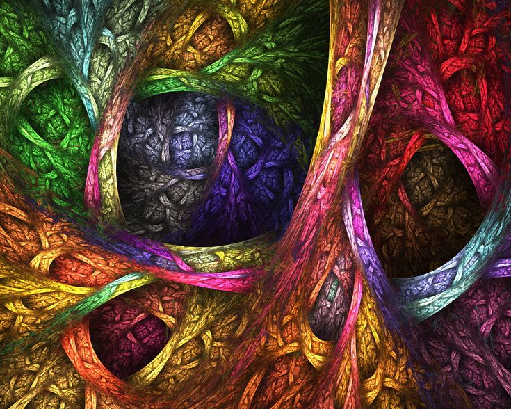 abstract fractal multicolor trees wallpaper (#80497) / Wallbase.cc