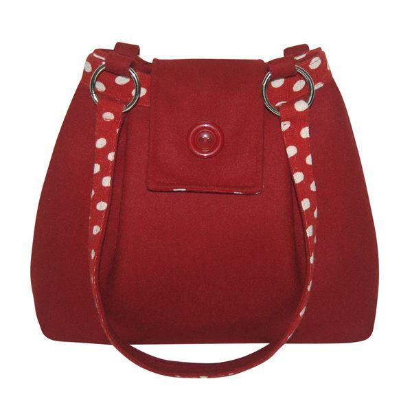 Red Felt Handbag Handmade Fair Trade