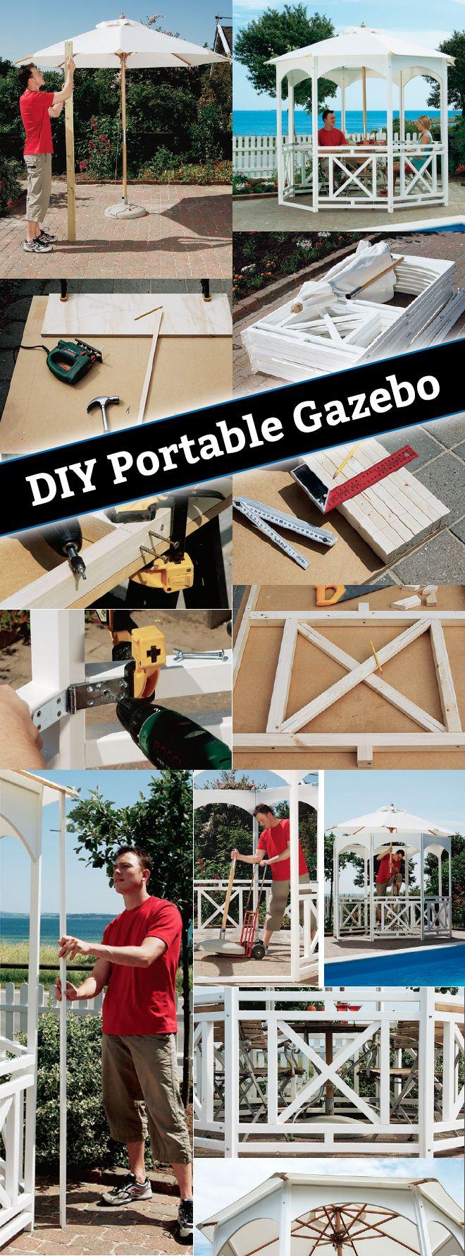 Best 25 portable gazebo ideas on pinterest outdoor for Best builders workshop deck