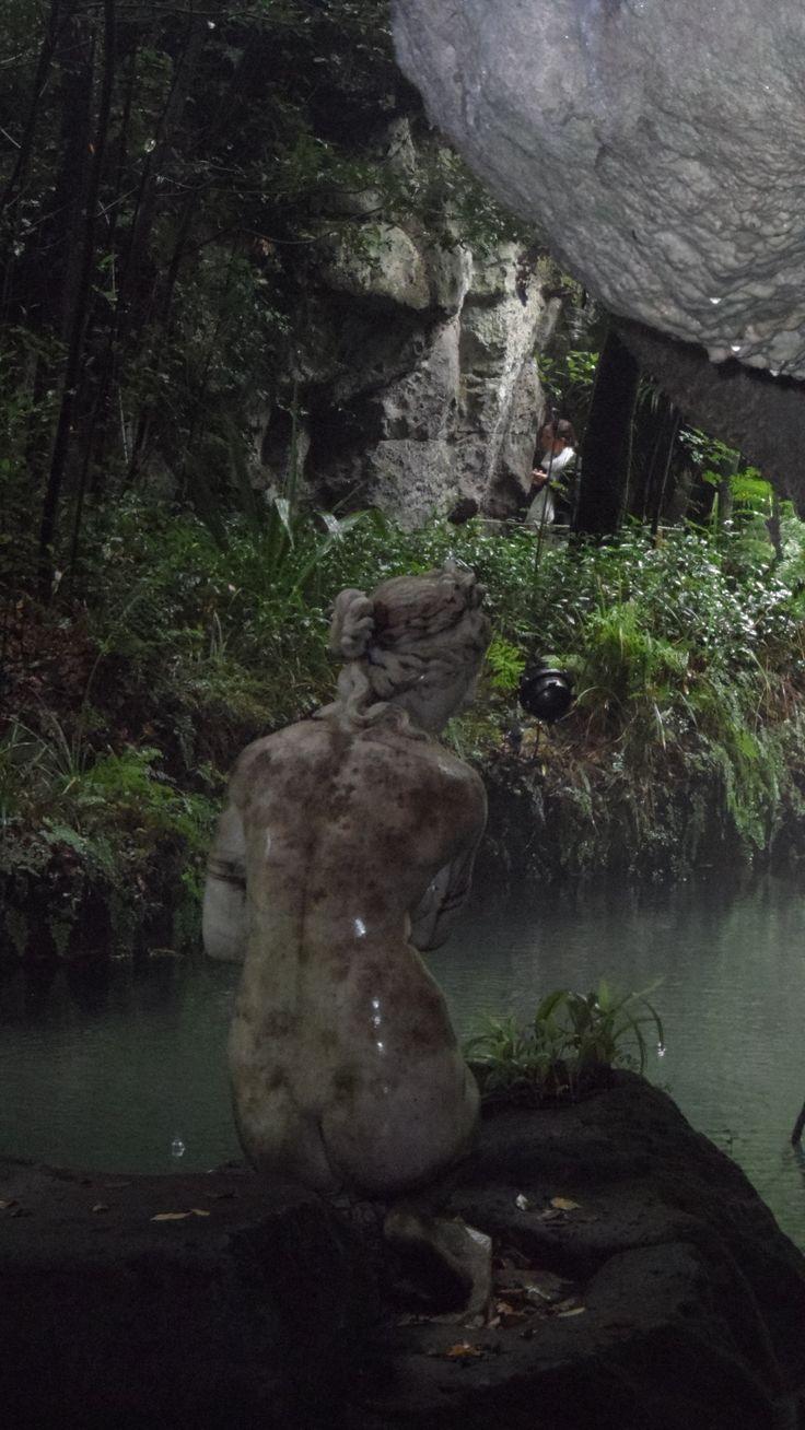 Particolare del Bagno di Diana nel Giardino Inglese della  Reggia di Caserta.