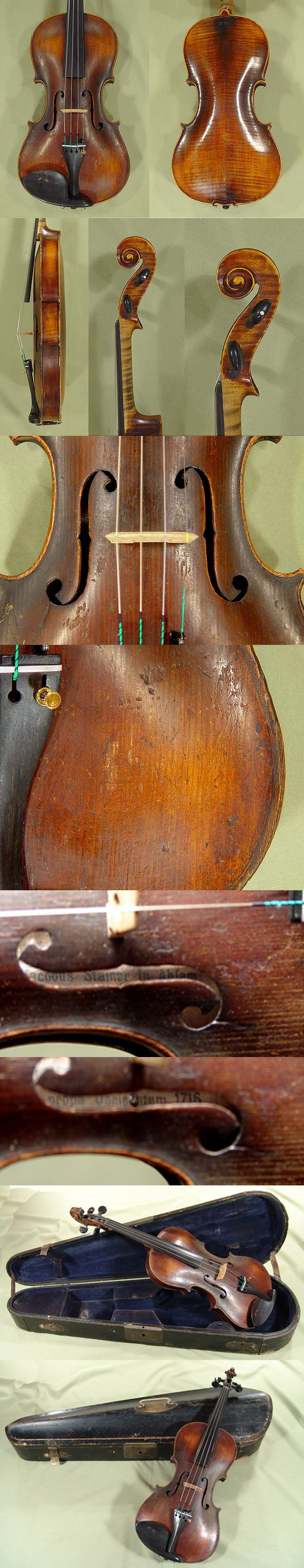 292 years old, the Violin 'Jacobus Stainer 1716' Model.