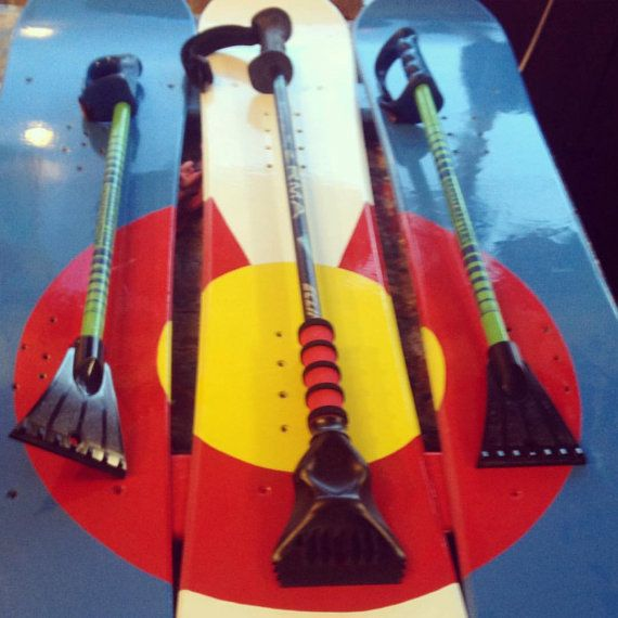 2-pack Ski Pole Ice Scrapers by ColoradoSkiChairs on Etsy