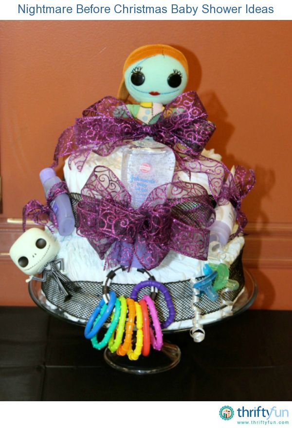 This guide contains Nightmare Before Christmas baby shower ideas. Tim Burton's animated classic can make an unusual baby theme.: Awesome Baby, Baby Shower Ideas, Christmas Baby Shower, Diaper Cakes, Babyshower 3, Diapers Cakes, Shower Diap Cakes Wreaths, Nightmare Before Christmas, B Day Cakes