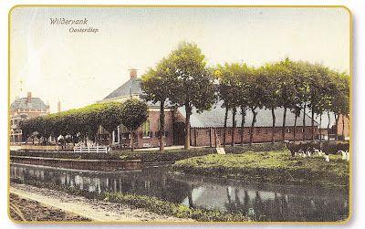 Wildervank, boerderij aan het Oosterdiep (nu Raadhuiskade), foto 1909