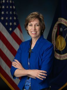 Dr. Ellen Ochoa, 4-time shuttle astronaut, 1,000 logged hours in space, PhD Stanford in Electrical Engineering, now Director of Johnson Space Center, NASA.