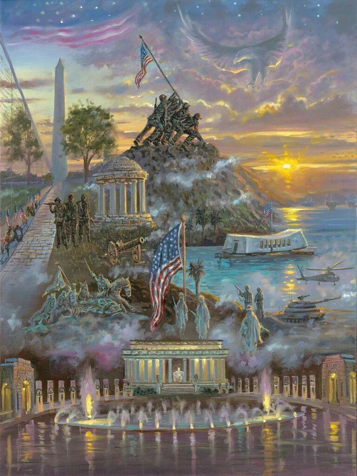 7 Best Thomas Kinkade Patriotic Art Images On Pinterest