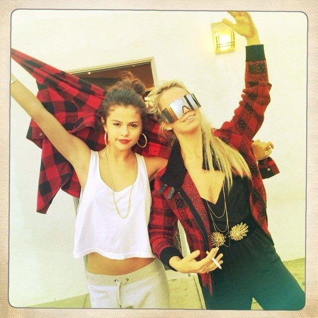 Aura Dione and Selena Gomez