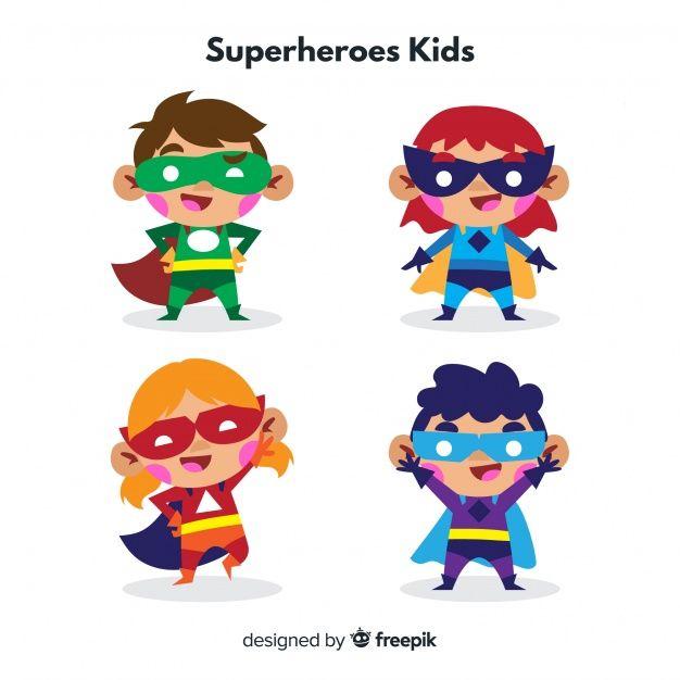 Download Superhero Kids Collection For Free Ilustraciones De
