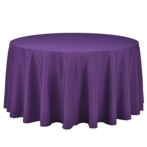 Remedios 108 inch round polyester tablecloth for wedding for 108 inch round table cloth