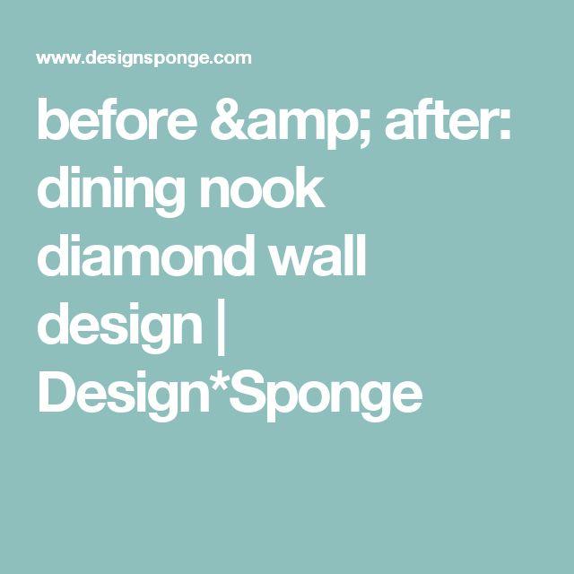 before & after: dining nook diamond wall design | Design*Sponge