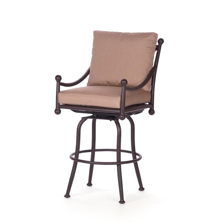caluco origin outdoor swivel bar stool