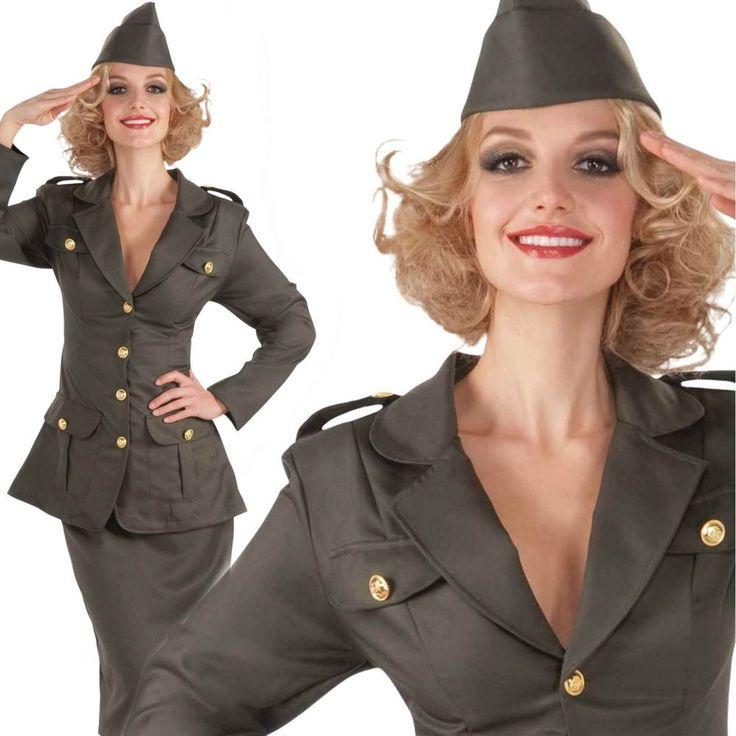 WW1 1910s Army Girl Soldier Uniform Ladies Officer Fancy Dress Costume   eBay