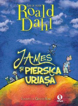 James si piersica uriasa - Roald Dahl; Varsta: 3-6 ani; Un uriaş rinocer scăpat de la Grădina Zoologică i-a mâncat pe părinţii lui James într-o clipă, iar James este trimis să locuiască împreună cu îngrozitoarele sale mătuşi, Sponge şi Spiker... Se intampla insa un lucru minunat, cu ajutorul câtorva limbuţe fermecate de crocodil, va porni în cea mai grozavă călătorie, cu cel mai neaşteptat mijloc de locomoţie şi în compania celor mai amuzanţi şi mai simpatici tovarăşi de drum!