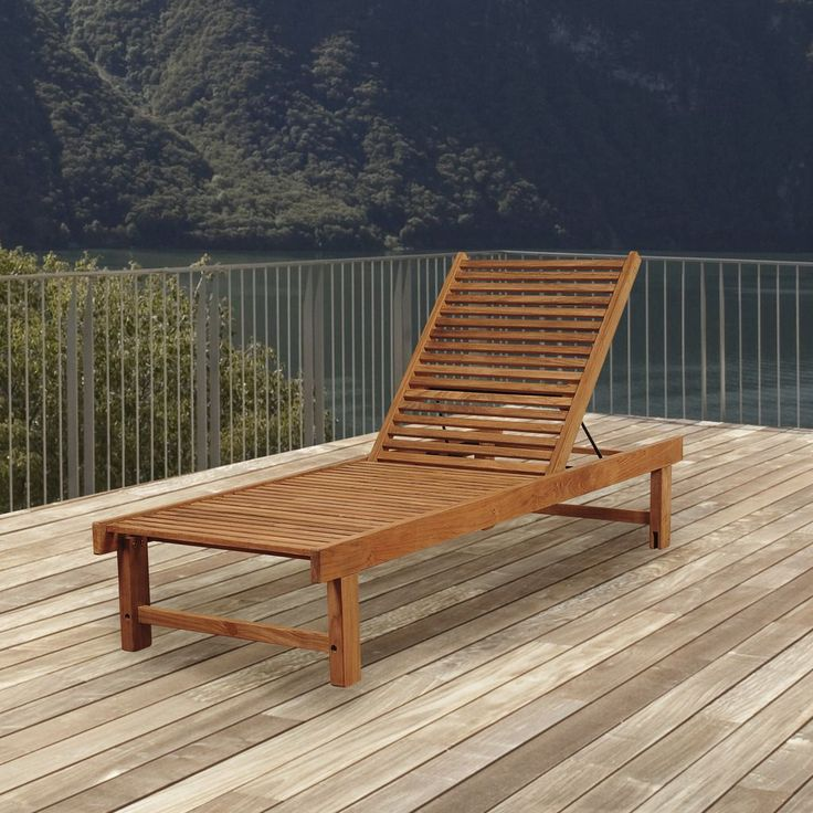 Comfort Meets Style With The Amazonia Teak Patio Lounger