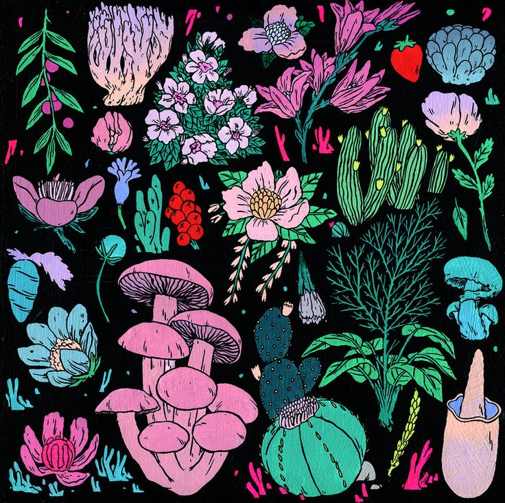 "Great palette in Deth P. Sun's ""Plant Life""."