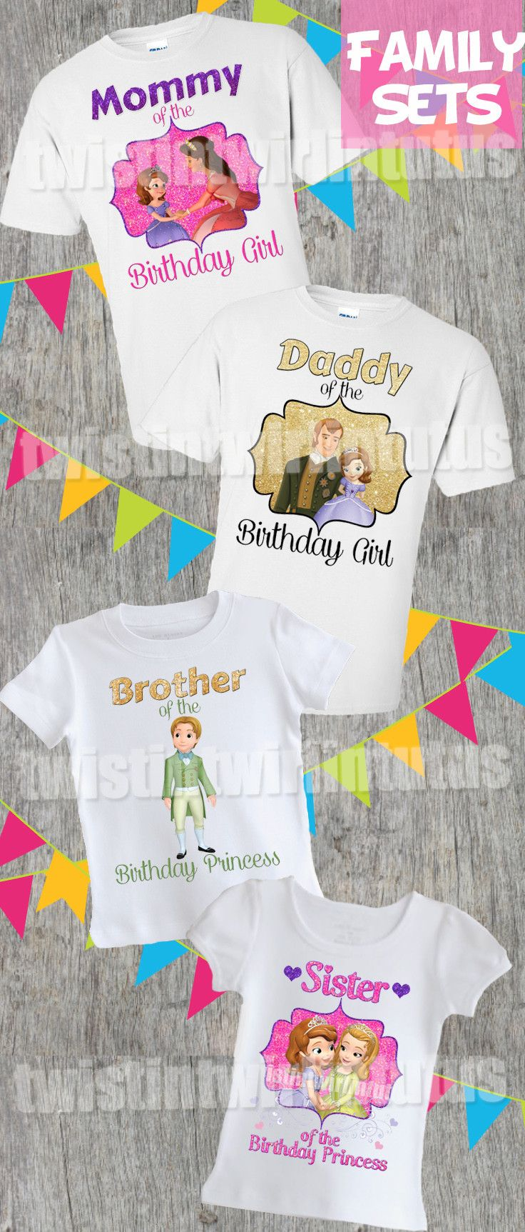 Sofia the First Family Shirt Set | Sofia the First Birthday Shirts | Sofia the First Birthday Party Ideas | Princess Sofia Family Shirts | Princess Sofia Birthday Shirts | Princess Sofia Birthday Party Ideas | Twistin Twirlin Tutus #sofiathefirstbirthday