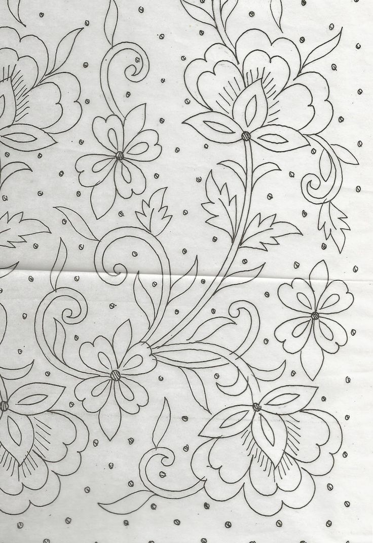 Outline embroidery designs for tablecloth - Sparkle With Surabhi Embroidery Designs And Motifs