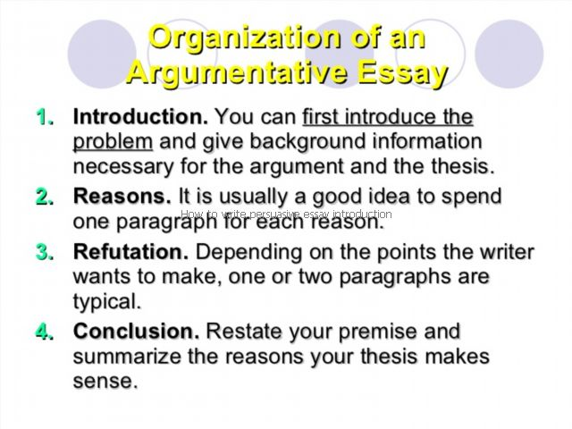 how to write introduction of argumentative essay