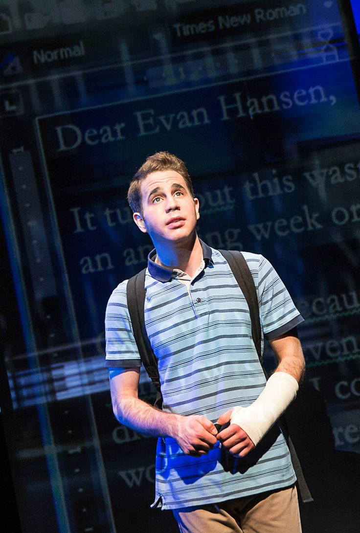 key change — Ben Platt in Dear Evan Hansen