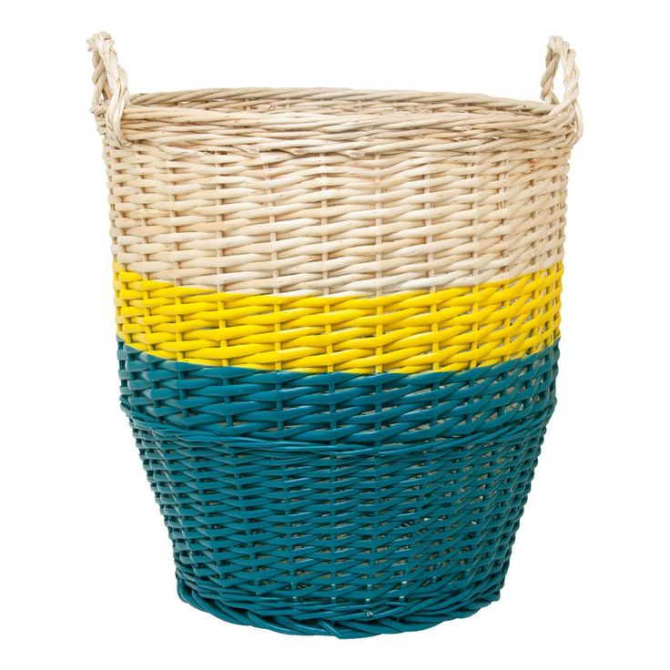 Rose in April Ratatouille Basket D36cm - Petrol Blue and Yellow-product
