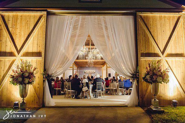 Barn Wedding Reception by Houston Wedding Photographer www.JonathanIvyphoto.com @Jonathan Ivy Photography