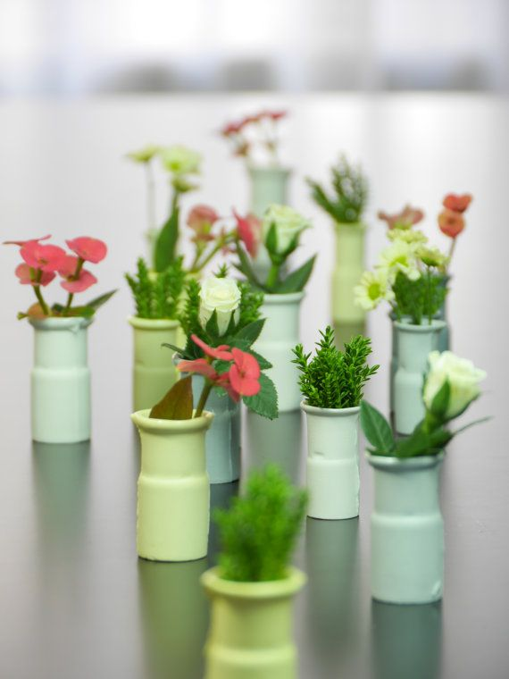 Mini porcelain vases small vase industrial design by WerkStaat
