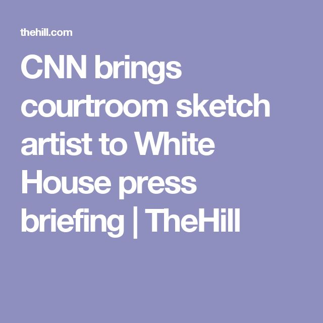 CNN brings courtroom sketch artist to White House press briefing | TheHill