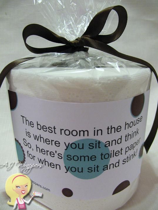 Toilet Paper Gag Gift Sit Amp Stink White Elephant Gifts