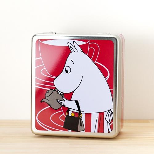 Moomin(Muumi)/ムーミン/ティン缶 Tea Bag保存缶/レッド