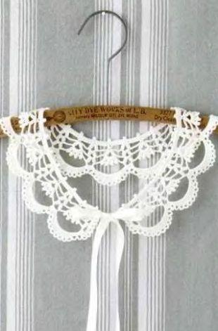.Схема вязания воротничка крючком.