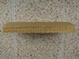 Teakholz Tischplatte Waschschale Organic 140 cm