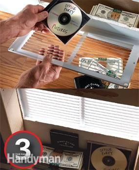 20 Secret Hiding Places Clever ways to hide your valuables