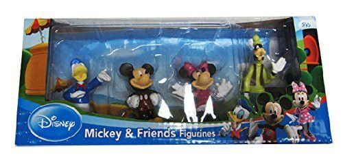 Disney's Mickey Mouse Figurine Toys Set - 4 Pack