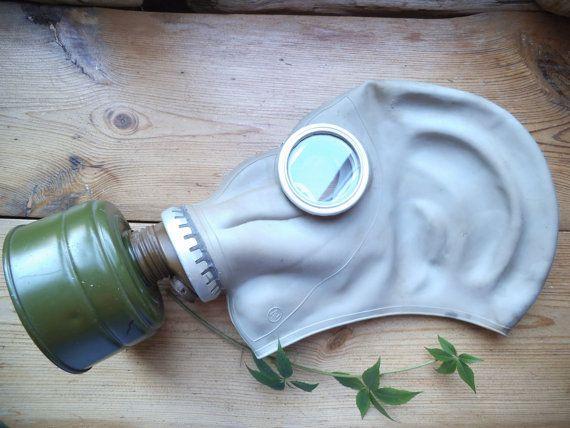 Soviet army gas mask GP-5  Military Gas mask  by VintageVoyageLV