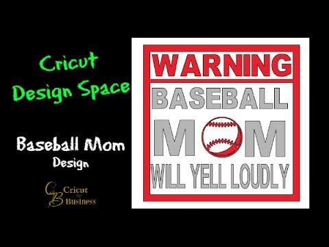 Cricut Design Space Baseball Mom Design Request - YouTube