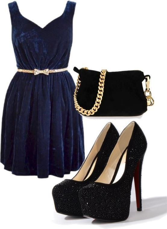 What Colour Shoes Goes With Indigo Blue Dress
