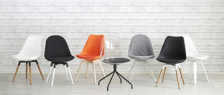 Kodin1 - GINA istuin valkoinen | Ruokapöydän tuolit.   Nämäkin aika kivat ja edulliset DSW:n vaihtoehdoksi.