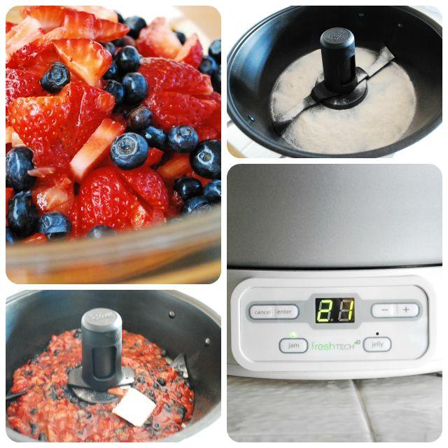 Easy Strawberry Blueberry Jam Recipe {Ball Automatic Jam Maker} its super