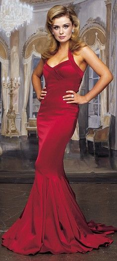 Classically trained singer Katherine Jenkins.  I love this red dress.  Wow.