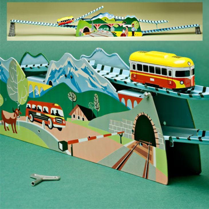 Clockwork Tin-Metal Tinplate Mountain Railway Or Bergbahn - Garrett Wade