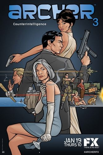 Got it for my mans entertainment room, its his fav show...Archer TV Show Poster FX Adult Swim | eBay