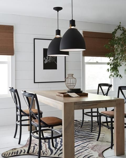 FREE SHIPPING. Purchase the Industrial Scandinavian Brynne Pendant in Black with both Brass or Chrome fitters by Feiss today for your kitchen or dining space toay at lightingconnection.com. P1442MB-LED