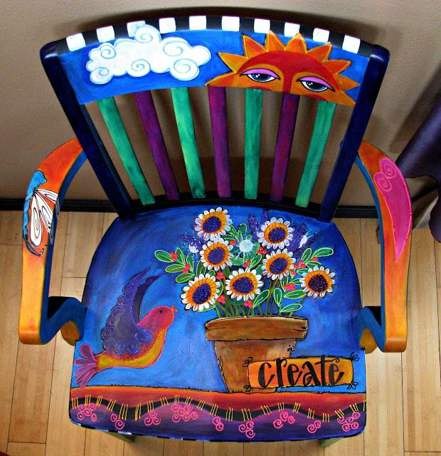lauriemillerdesigns.blogspot.com upcycled create library chair upcycled ladybug school chair upcycled ...