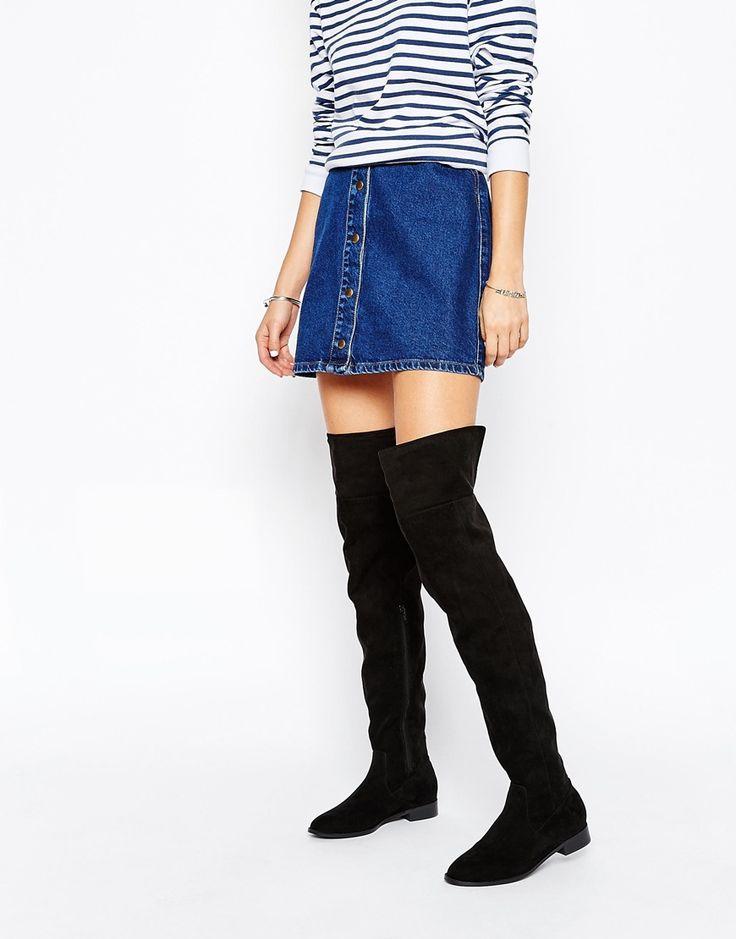 cool vegan fake suede flat thigh high boots   #vegan #vegetarian #shoes
