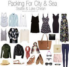 4 tops 2 bottoms 4 dresses 4 outerwear/sweater 2 scarves 3 shoes 3 bags bathing suit, hat, belt, sunglasses
