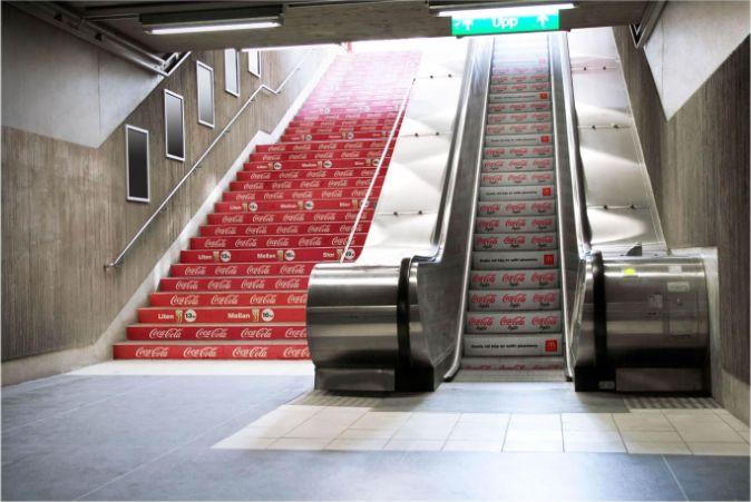 Coke and Coke light street marketing campaign #streetmarketing
