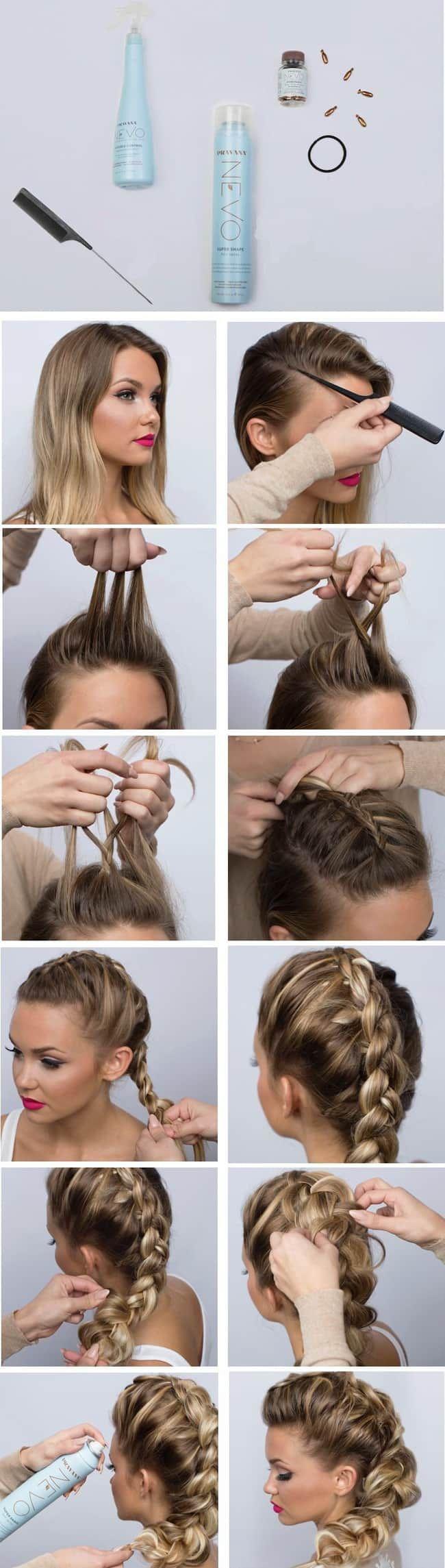 как сделать быстро прическу на средние волосы своими руками