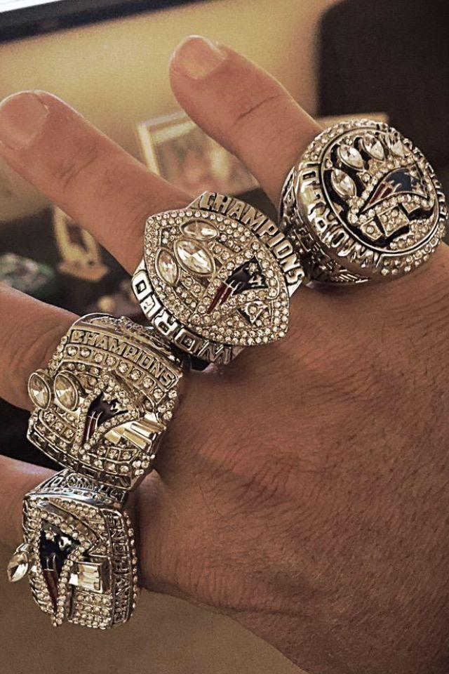 Some BIG rings #PatsNation